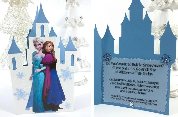 frozen birthday party invitations two