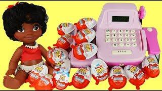 Download Disney's MOANA Shops for Lots of Kinder Egg Surprises & Cash Register Video