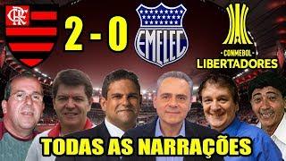 Download Todas as narrações - Flamengo 2 x 0 Emelec / Libertadores 2018 Video