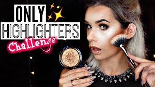 Download FULL FACE Using ONLY HIGHLIGHTERS Challenge! | SylviaGani Video