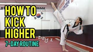 Download How to Kick Higher: Stretches & Drills (Day 1 Routine) Video