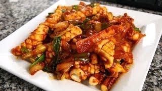 Download Spicy Stir-fried Squid (Ojingeo-bokkeum: 오징어볶음) 10th Anniversary Special! Video
