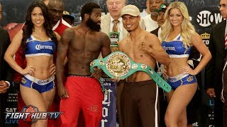 Download ADRIEN BRONER VS. MIKEY GARCIA FULL WEIGH IN AND FACE OFF VIDEO Video