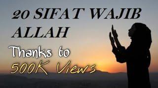 Download 📖20 SIFAT WAJIB ALLAH Dan Artinya - Backsound Sholawat Nariyah | CMNCommunity Video