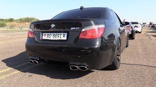 Download BMW M5 V10 w/ Eisenmann Race Exhaust - REVS & DRAG RACING Video