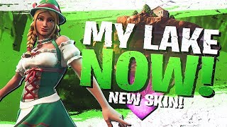 Download MY LAKE NOW! NEW HEIDI SKIN SOLO GAMEPLAY (Fortnite BR Full Match) Video