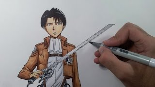 Download Drawing Levi - Attack on Titan (Shingeki no Kyojin) Video
