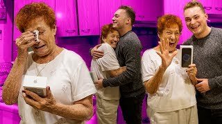 Download SURPRISING MY GRANDMOM WITH A BRAND NEW iPHONE! *EMOTIONAL* Video