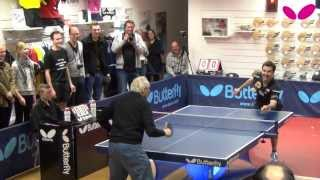 Download Timo Boll visiting Butterfly Store Moers Video