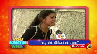 Download EP 17 | e.g யின் விரிவாக்கம் என்ன ? | YOU KNOW WHAT | CAPTAIN TV | Video
