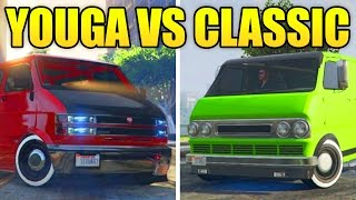 Download GTA 5 Online - YOUGA VS NEW YOUGA CLASSIC VAN! (GTA 5 DLC Vehicles) Video