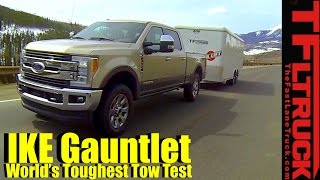 Download 2017 Ford F250 Diesel V8 Takes on the Ike Gauntlet Review: The World's Toughest Towing Test Video