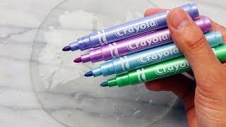Download Satisfying Slime Coloring with Metallic Crayola Markers & Random Ingredients! Video