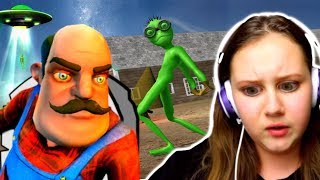 Download Scary Green Alien Tricks Grandpa from Hello Neighbor!? Video