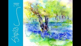Download How to paint a Tree, very loose wet into wet watercolour by Sheila Gill Video