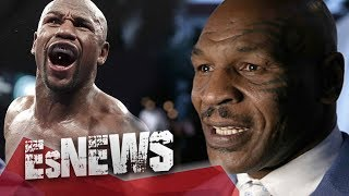 Download Mike Tyson Swings At Floyd Mayweather & Floyd Doesn't Even Flinch - EsNews Boxing Video