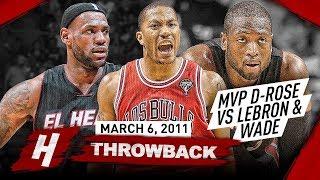 Download The Game that MVP Derrick Rose COMPLETELY DESTROYED LeBron James & Dwyane Wade 2011.03.06 - EPIC! Video