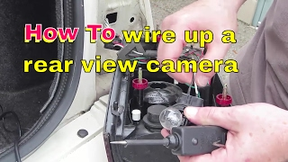 Download How to locate and wire your reverse lights to your rear view camera Video