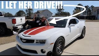 Download I let my girlfriend drive my 1200hp Turbo CAMARO!!! Video