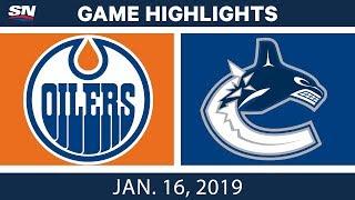 Download NHL Highlights | Oilers vs. Canucks - Jan. 16, 2019 Video