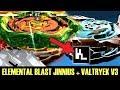 Download ELEMENTAL BLAST JINNIUS + VALTRYEK V3 BEYBLADE BURST APP GAMEPLAY ベイブレードバーストアプリ Video