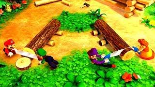 Download Mario Party The Top 100 Minigames - Mario vs Waluigi vs Luigi vs Daisy Video