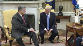 Download President Donald Trump Meets with President Petro Poroshenko of Ukraine Video
