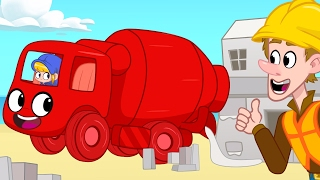 Download Cement Mixer Morphle Builds Houses! Construction videos for kids Video