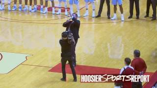 Download Cornelison sings the National Anthem at IU Video
