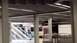 Download Green Line trains at the newly renovated Government Center Subway Station, Boston, MA Video