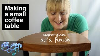 Download Making a small coffee table - using superglue (CA glue) as a finish Video