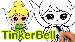 Download How to Draw Disney Tinker Bell Fairy step by step Cute Video