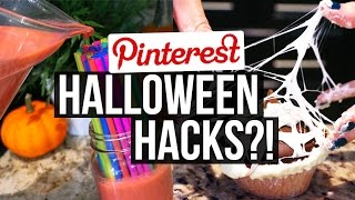 Download Pinterest Recipes Tested || HALLOWEEN HACKS Edition!! Video