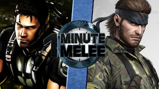 Download One Minute Melee S4 EP10 - Snake vs Chris Redfield (Metal Gear vs Resident Evil) Video