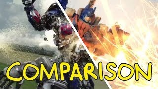 Download Transformers: Age of Extinction Trailer - Homemade Side by Side Comparison Video