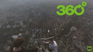 Download Vértigo en 360º: 'Roofers' rusos conquistan alturas peligrosas en China Video