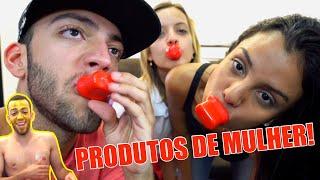 Download HOMEM TESTANDO PRODUTOS DE MULHER!! (Aumentador de Lábios etc.) Video