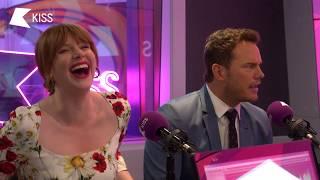 Download Bryce Dallas Howard & Chris Pratt talk Jurassic World and Training like The Rock! 🌋   KISS Breakfast Video