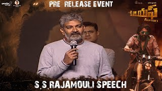 Download S. S. Rajamouli Speech at KGF Pre Release Event | Yash | Srinidhi | Prashanth Neel Video