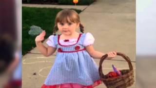 Download Little Girl Says NOPE! to Scary Halloween Decoration.mp4 Video