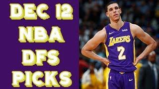 Download 12/12/17 NBA DraftKings Picks Video