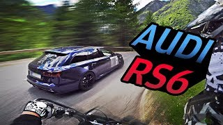 Download Chasing tuned Audi RS6 on small road Video