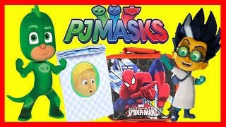 Download PJ Masks Pizza Party with Romeo Slime and Gekko -Toys from Spiderman, Mashems, Superheroes Video
