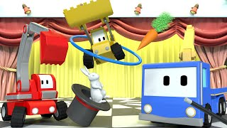 Download The MAGIC SHOW - Tiny Trucks for Kids with Street Vehicles Bulldozer, Excavator & Crane Video