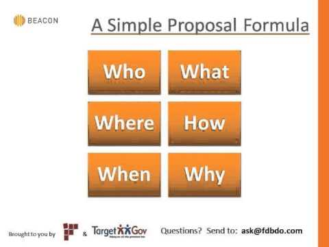 Government Proposal Writing 101 How To Write Proposals