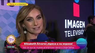 Download ¿Elizabeth Álvarez celosa por escenas de besos de Jorge Salinas? | Sale el Sol Video