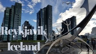 Download Reykjavik, ICELAND.... Over the city capital 360 view (Drone Footage 4k) Video