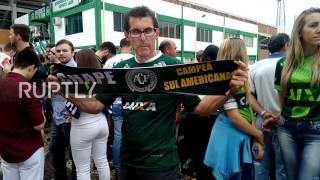 Download Brazil: Chapecoense fans mourn fatal plane crash outside team's stadium Video