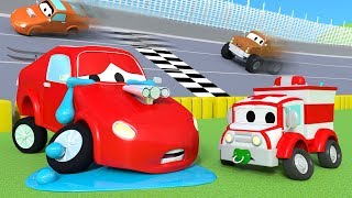 Download The Accident of Jerry the racing car ! Amber the Ambulance in Car City 🚓 🚒 l Cartoons for Children Video