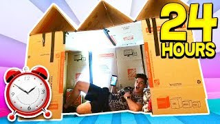 Download 24 HOUR GIANT BOX FORT SURVIVAL CHALLENGE! 📦🏠 (With UNSPEAKABLE) Video